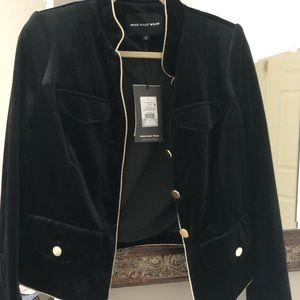 Who What Wear black velvet blazer- new with tags.